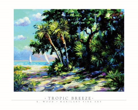 Framed E. wood - Tropic Breeze Print