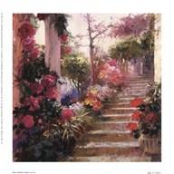 Rose Garden Steps  Fine Art Print