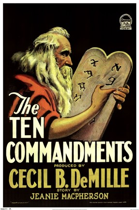 Framed Ten Commandments, c.1956 Print