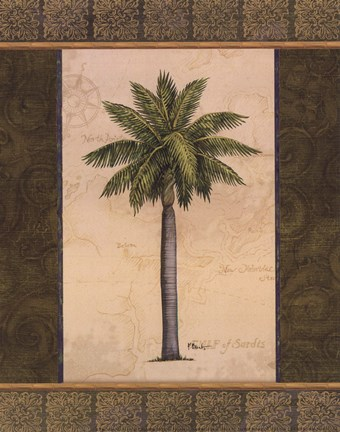 Framed East Indies Palm II - mini Print