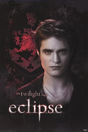 Framed Twilight 3 - Eclipse - Edward - Crest Print