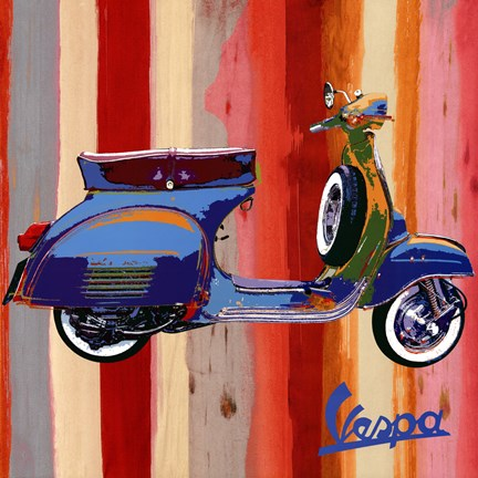 Framed Pop Vespa II Print