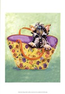Yorkie Handbag Art