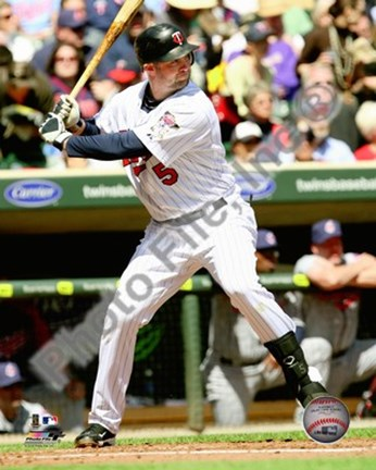Framed Michael Cuddyer 2010 Action Print