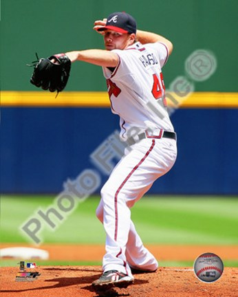 Framed Tommy Hanson 2010 Action Print