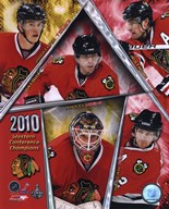 2009-10 Chicago Blackhawks Western Conference Champions Team Composite Art
