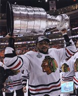 Dustin Byfuglien with the 2009-10 Stanley Cup (#31) Art