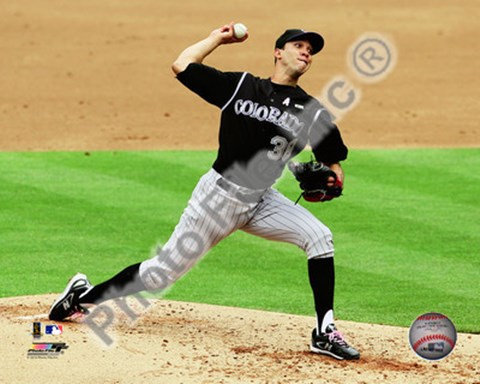 Framed Ubaldo Jimenez 2010 Action Print