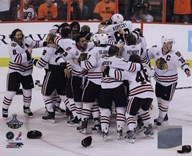 The Chicago Blackhawks Celebrate winning Game 6 of the 2010 Stanley Cup Finals (#37)