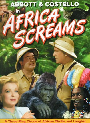 Framed Abbott and Costello, Africa Screams, c.1949 style B Print