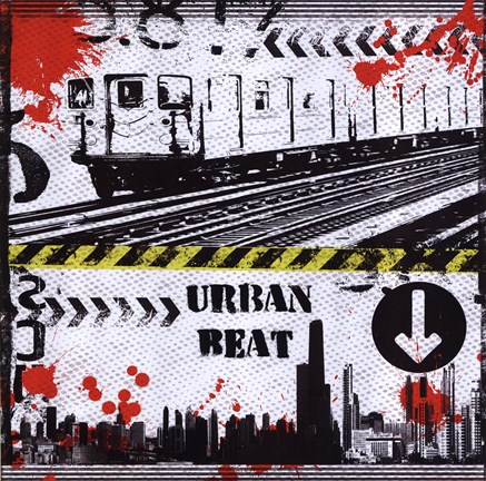 Framed Urban Beat Print