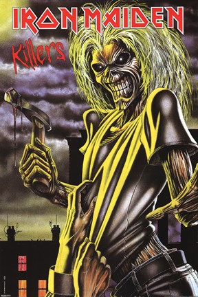Framed Iron Maiden - Killers Print
