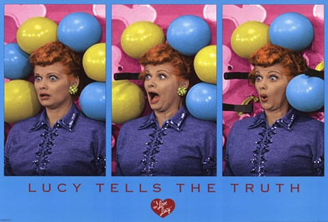 Framed I Love Lucy - Balloons Print