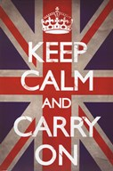 Keep Calm &amp; Carry On - Union Jack