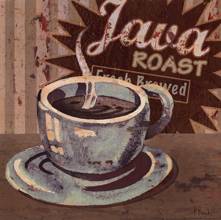 Framed Coffee Brew Sign II - petite Print