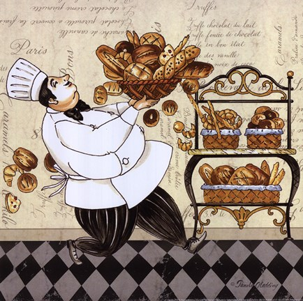 Framed Chef Bread Print