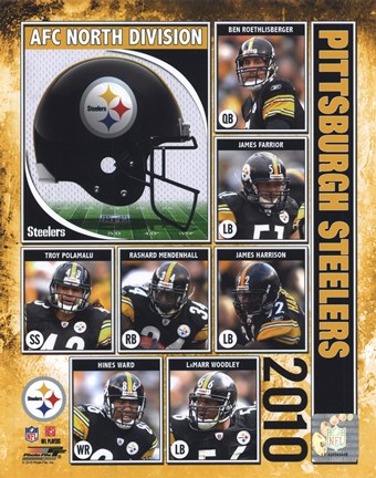 Framed Pittsburgh Steelers 2010 Composite Print