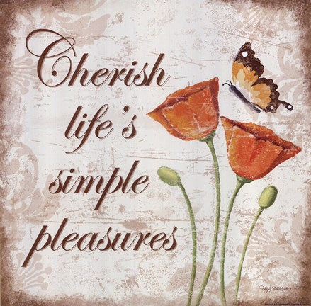 Framed Cherish Life's Simple Pleasures Print