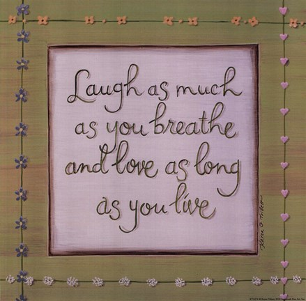 Framed Laugh Breathe Love Print