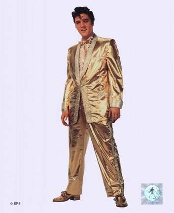 Framed Elvis Presley Wearing Gold Suit (#10) Print