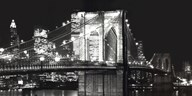 Brooklyn Bridge At Night Art