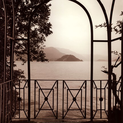 Framed Vista Di Lago No. 1 Print
