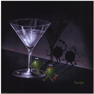 He Devil She Devil Martini  Fine Art Print