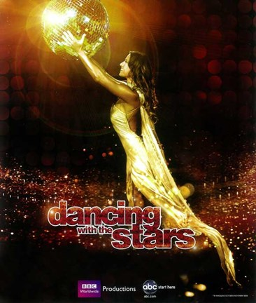 Framed Dancing with the Stars Disco Ball Print
