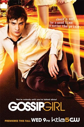 Framed Gossip Girl Chuck Bass Print