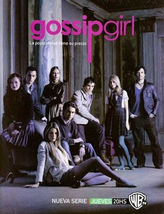 Framed Gossip Girl Cast Spanish Print