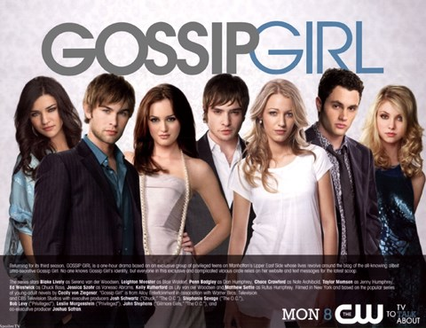 Framed Gossip Girl Cast Season 3 Print