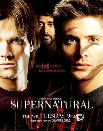 Framed Supernatural (TV) Sam Dean & John Winchester Print