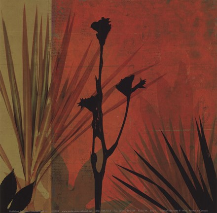 Framed Tropical Silhouette II Print