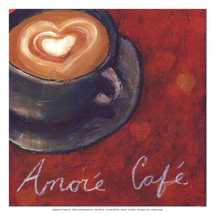 Framed Cafe Amore II Print