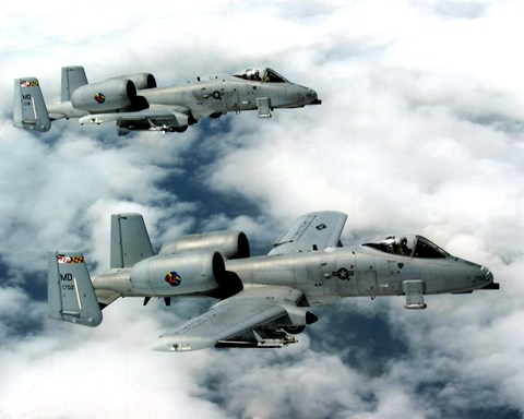 Framed A-10 Thunderbolts United States Air Force Print