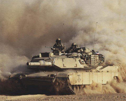 Framed M1A1 Abrams United States Army Print