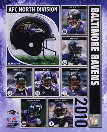 Framed 2010 Baltimore Ravens Team Composite Print