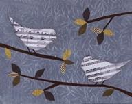 Aqua Songbirds I  Fine Art Print