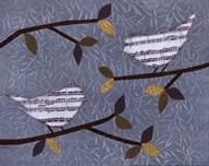 Aqua Songbirds II  Fine Art Print