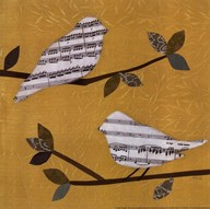 Golden Songbirds I Art