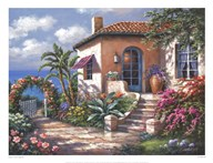 Coastal Cottage View Art