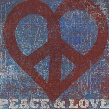 Framed Imagine Peace Love Print