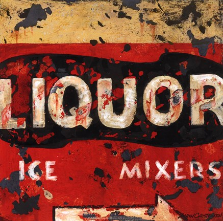 Framed Liquor & Mixer Print