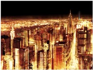 Manhattan Panoramic Nocturne (detail)  Fine Art Print