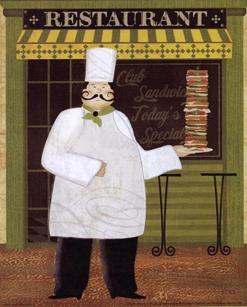 Framed Chef's Specialties II Print