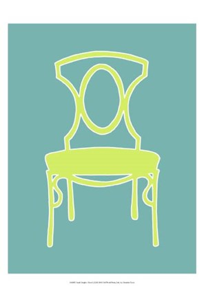 Framed Small Graphic Chair I (U) Print