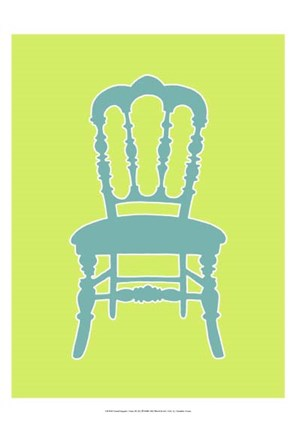 Framed Small Graphic Chair III (U) Print