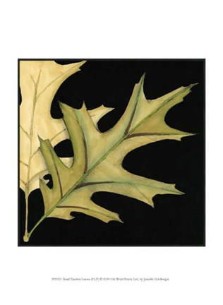 Framed Small Tandem Leaves III (P) Print