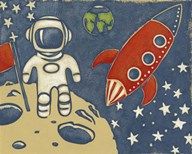 Space Explorer I  Fine Art Print