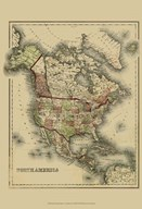 Small Antique Map of N. America (P)
